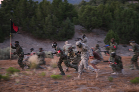 large scale paintball war